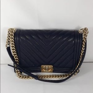 Chanel chevron jumbo caviar bag